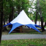 Тент-шатер «Звезда» в Красноярске, заказать изготовление тента-звезды
