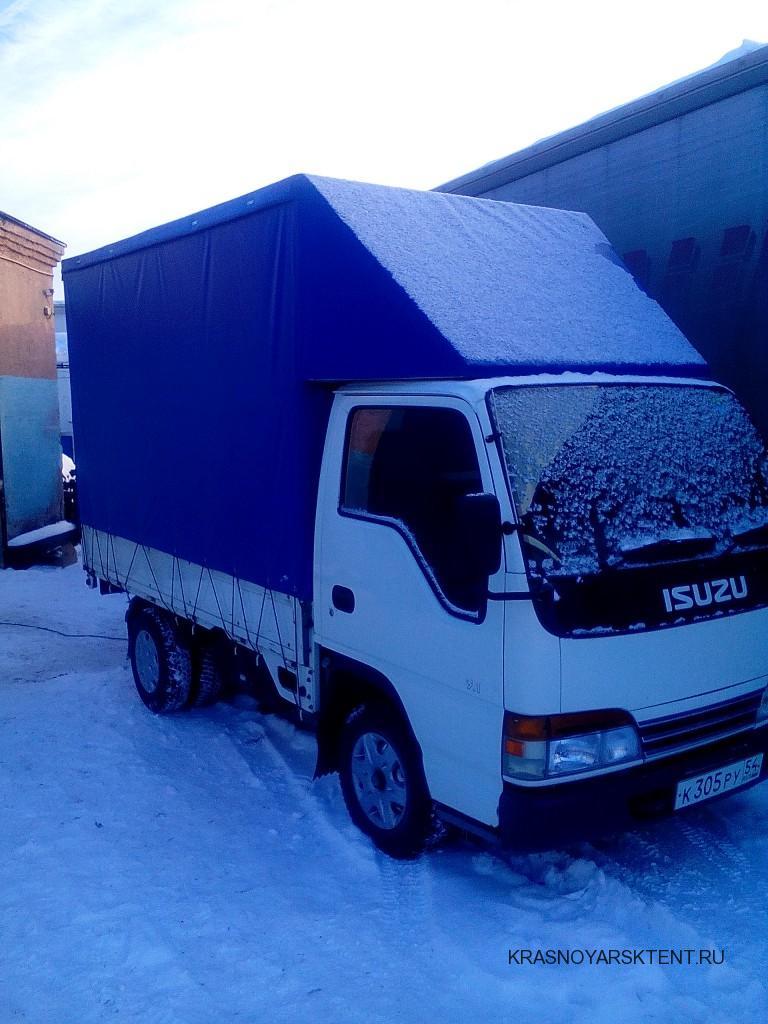 Тент на грузовой автомобиль Isuzu Elf. Изготовление в Красноярске