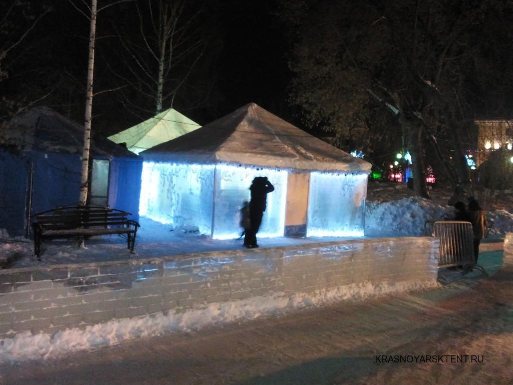Зимние шатры-павильоны для новогоднего и зимнего отдыха