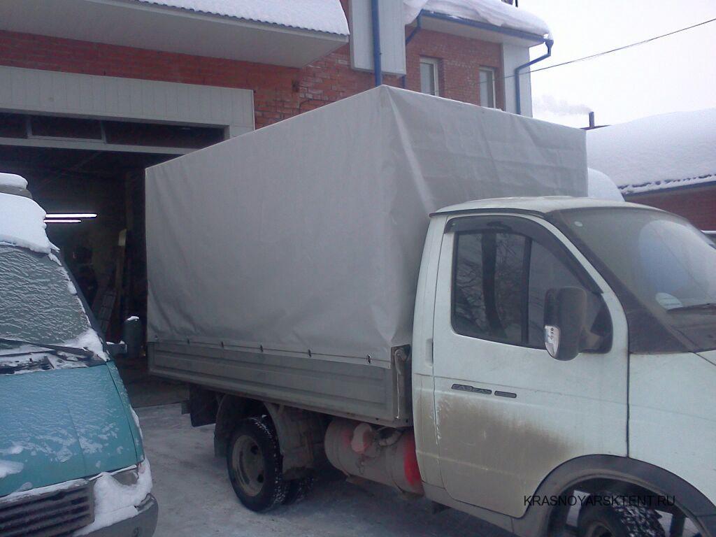 Прямоугольный высокий тент на грузовик Газель
