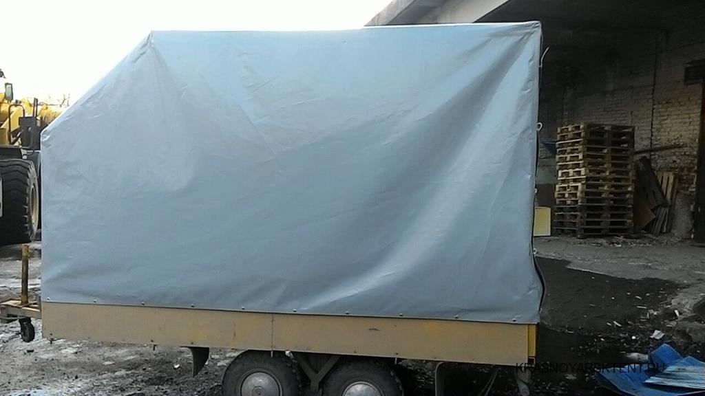 Изготовление каркаса и тента с передним скосом для легкового прицепа в Красноярске