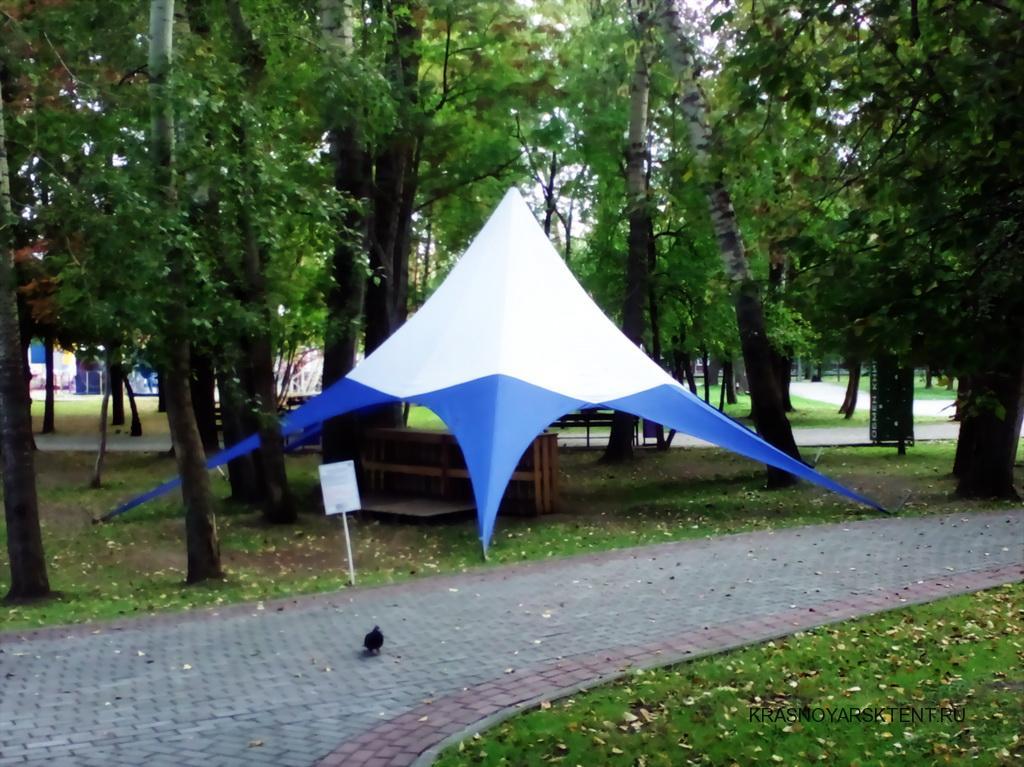 Изготовление тента-шатра «звезда» в Красноярске на заказ
