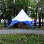 Тент-звезда в Красноярске, заказать изготовление шатра-звезды