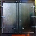 Ворота на грузовик с облицовкой металлом