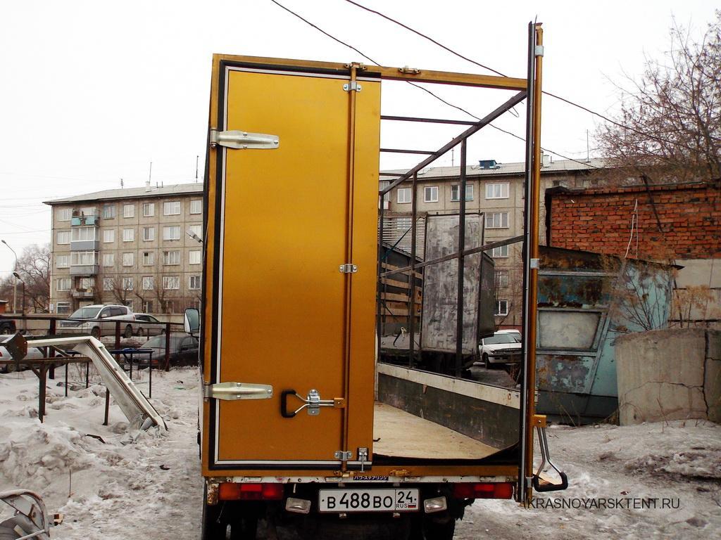 Установка задних ворот на грузовики Nissan Atlas в Красноярске на заказ