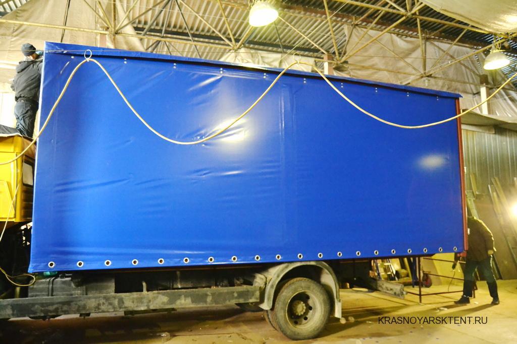 Сдвижная штора тента на грузовик Камаз