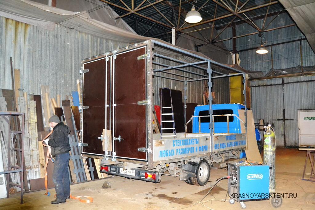 Ворота на грузовой автомобиль Iveco Daily в Красноярске
