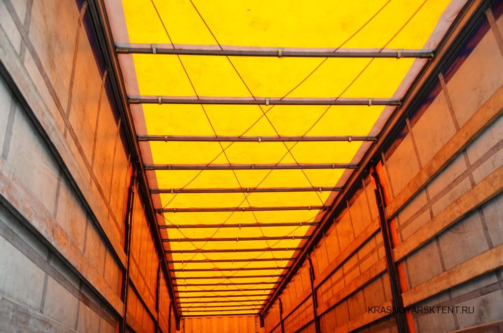 Тенты крыши полуприцепа Schmitz SP 24 желтого цвета