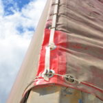 Восстановление тента и установка люверсов