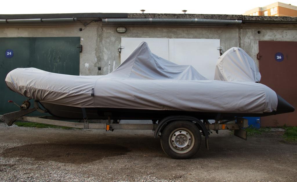 Тент-чехол на надувную лодку-ПВХ Grand 470