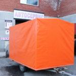 Тент-домик на прицеп оранжевого цвета