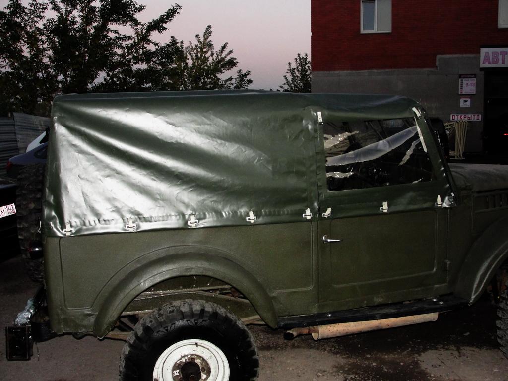 Изготовление тента-ПВХ на ГАЗ-69