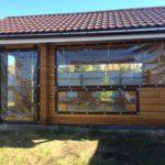 Мягкие окна для деревянной беседки