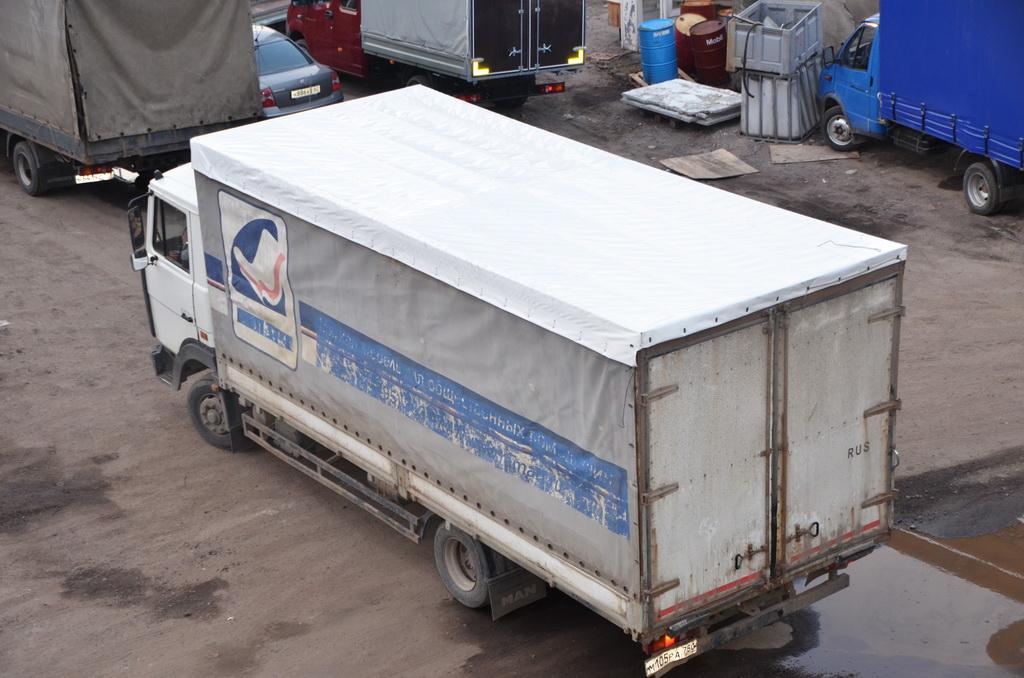 Тент на крышу грузовика «МАЗ»
