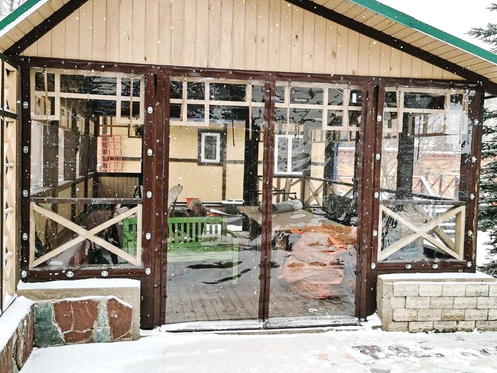 Гибкие окна на беседку в СНТ «Гелиос»