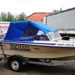 Ходовой тент на лодку Wellboat 45