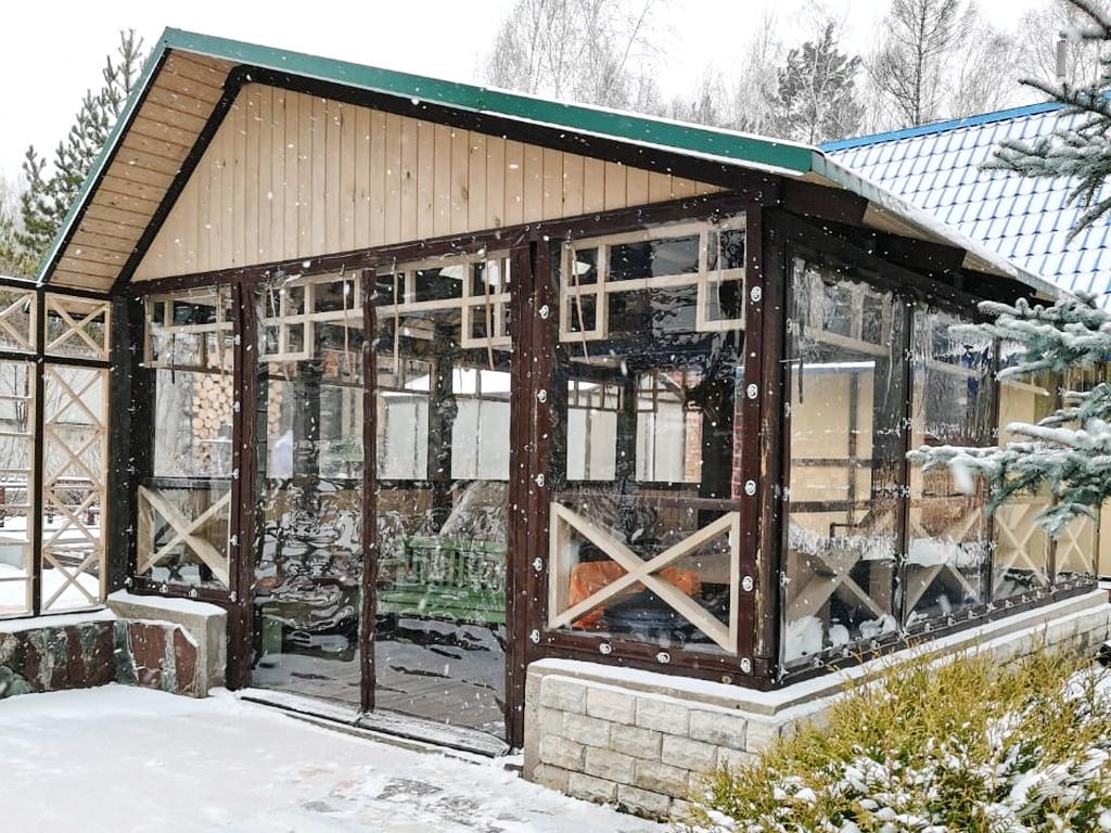Мягкие окна на беседку в СНТ «Гелиос»