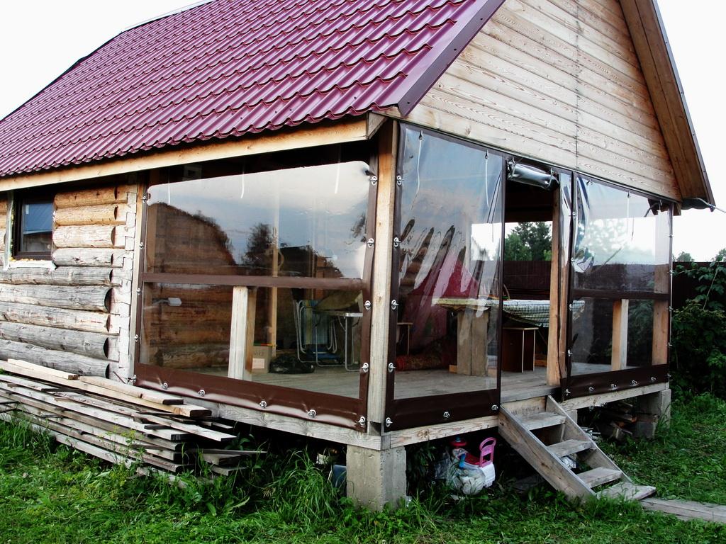 Мягкие окна-ПВХ на веранду