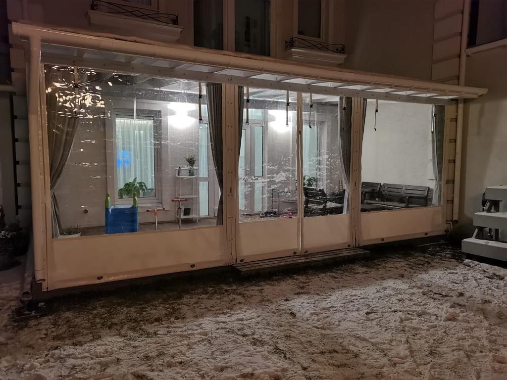 Гибкие окна на веранду в Красноярске