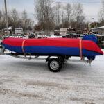 Тент-чехол на лодку-ПВХ «Флагман-450»
