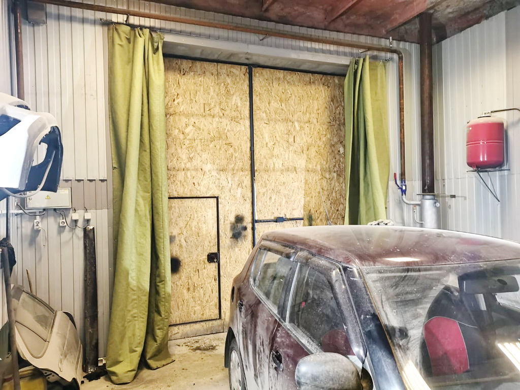 Штора для гаража 3,77х3,7 метра в Красноярске