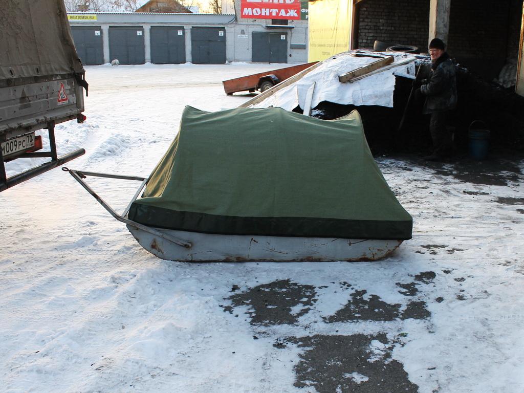 Тент на сани-волокуши для снегохода в Красноярске