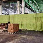 Брезентовые шторы на склад